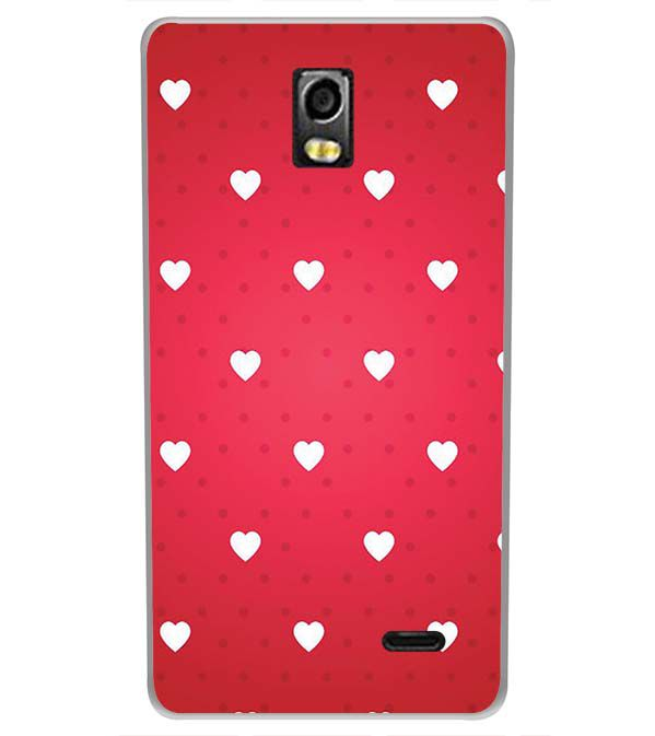 low priced 73325 24d90 Little Hearts Back Cover for LYF Water 10