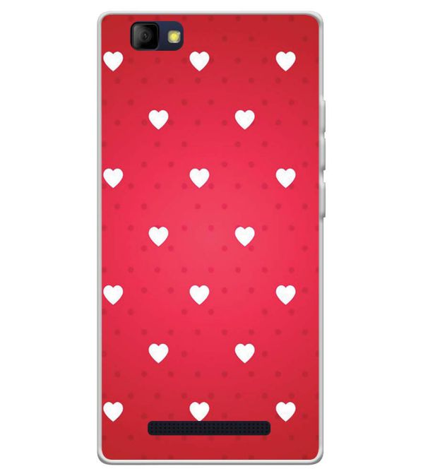 quality design 594fb 678f8 Little Hearts Soft Silicone Back Cover for LYF Wind 7