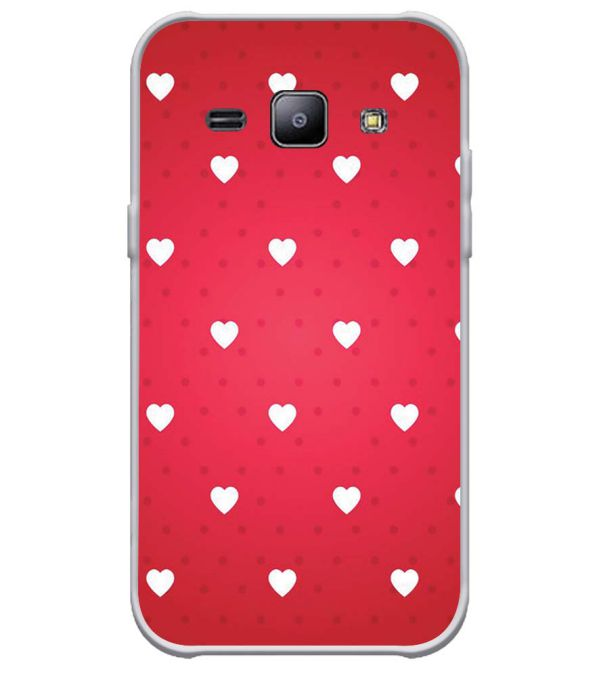 best sneakers df856 dbec9 Little Hearts Soft Silicone Back Cover for Samsung Galaxy J1 4G