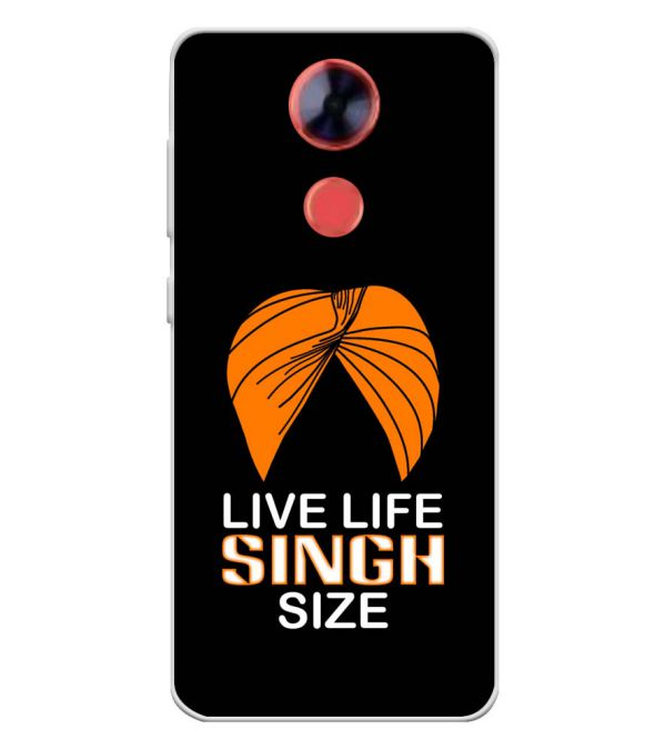 Live Life Singh Size Soft Silicone Back Cover for Comio X1