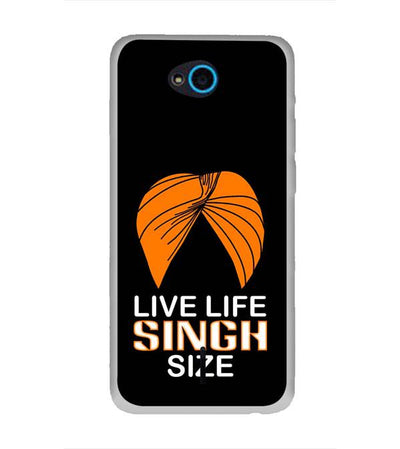Live Life Singh Size Back Cover for InFocus Bingo 21
