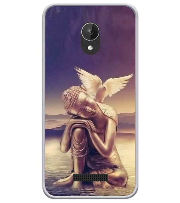 Lord Buddha Soft Silicone Back Cover for Micromax Spark Q380