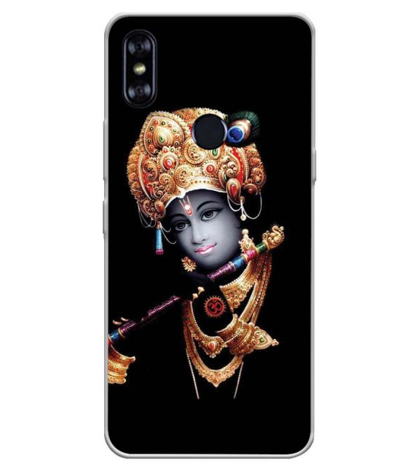 Lord Krishna Soft Silicone Back Cover for Itel A62
