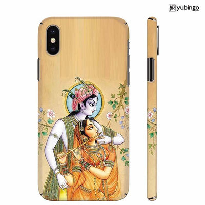 Lord Krishna with Radha Back Cover for Apple iPhone X