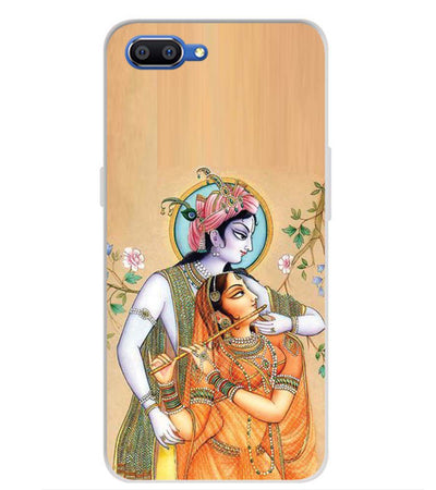 Lord Krishna with Radha Back Cover for Realme C1 (2019)-Image3