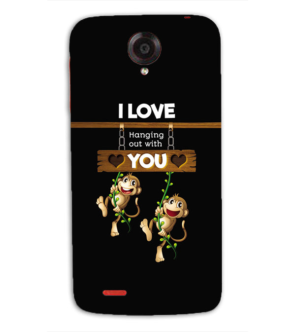 Love Hanging Out Back Cover for Lenovo S820