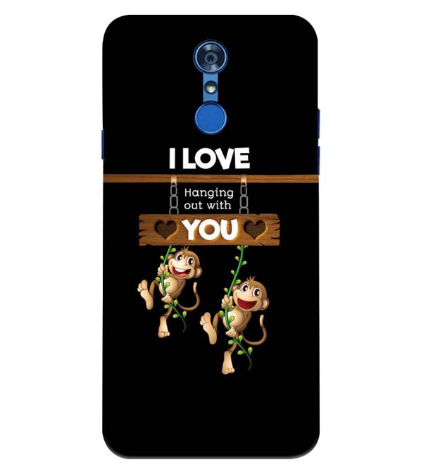 Love Hanging Out Back Cover for LG Q7