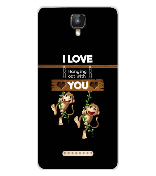 Love Hanging Out Soft Silicone Back Cover for Intex Aqua Lions 2 4G