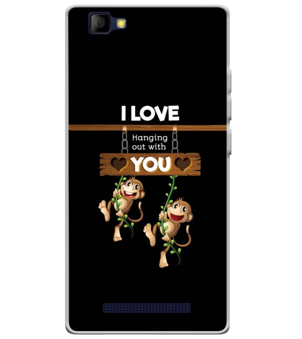 Love Hanging Out Soft Silicone Back Cover for Lyf Wind 7S