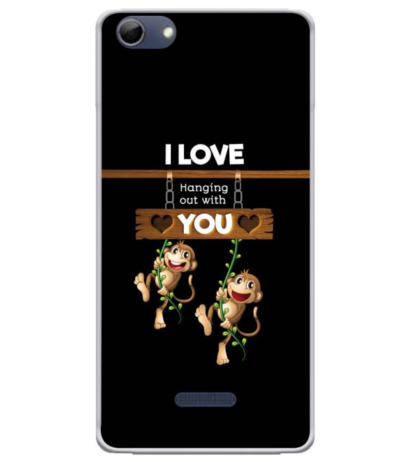 Love Hanging Out Soft Silicone Back Cover for Micromax Selfie 3 Q348