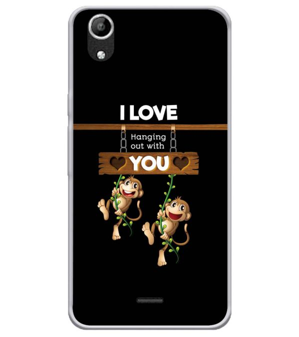 Love Hanging Out Soft Silicone Back Cover for Micromax Selfie Lens Q345