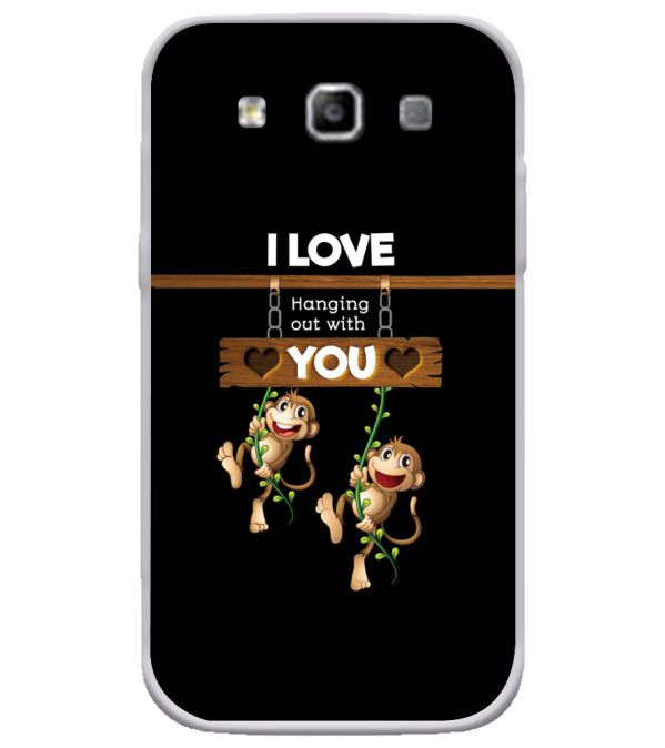 Love Hanging Out Soft Silicone Back Cover for Samsung Galaxy Grand Quattro 8552