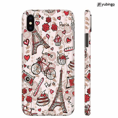Love In Paris Back Cover for Apple iPhone X