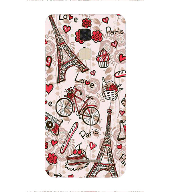 Love In Paris Back Cover for Asus Zenfone 3 Max ZC520TL