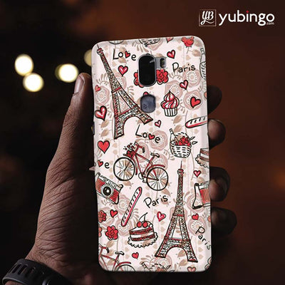 Love In Paris Back Cover for Coolpad Cool 1-Image2