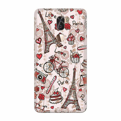 Love In Paris Back Cover for Coolpad Cool 1