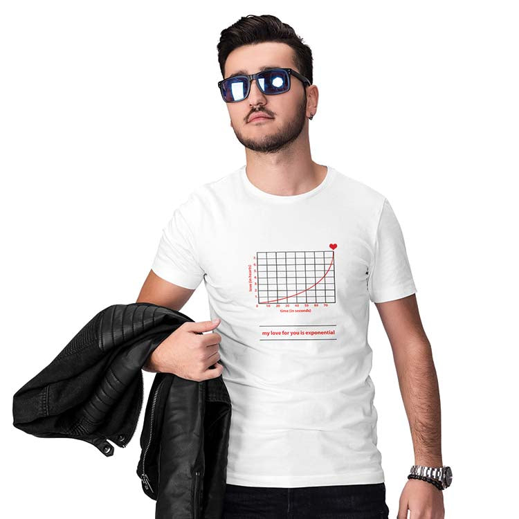Love Is Exponential Men T-Shirt-White