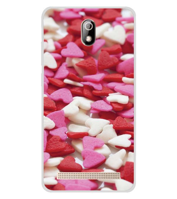 Love Pattern Soft Silicone Back Cover for Comio C1 Pro