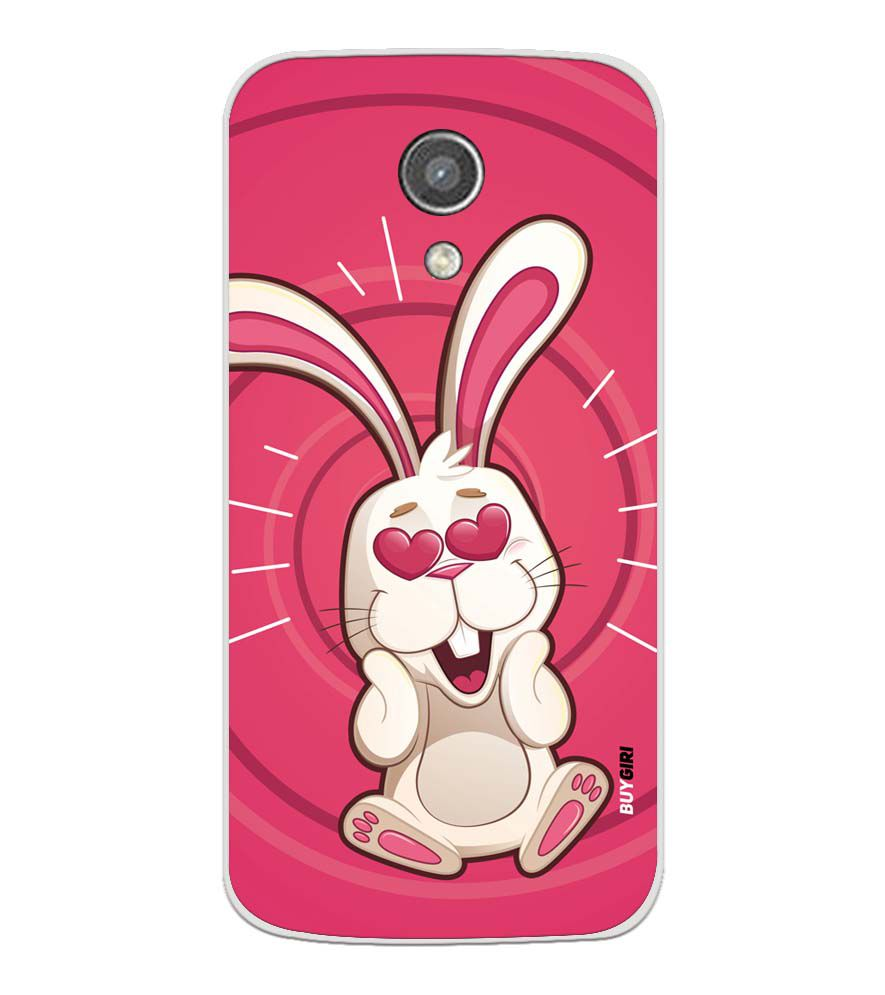 reputable site d073b 46928 Love Rabbit Soft Silicone Back Cover for Motorola Moto G2