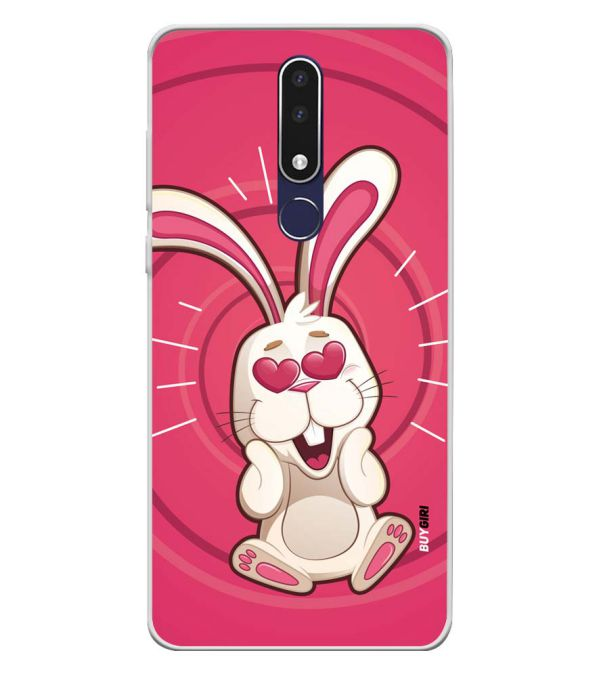 official photos 76ee7 fb375 Love Rabbit Soft Silicone Back Cover for Nokia 3.1 Plus