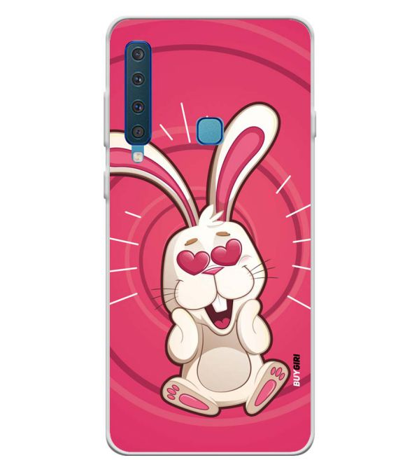Love Rabbit Soft Silicone Back Cover for Samsung Galaxy A9 (2018)