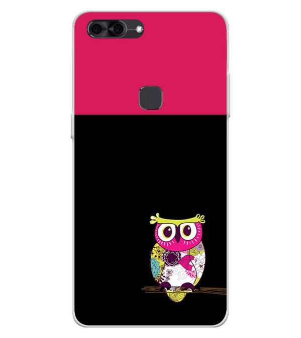 Lovely Owl Soft Silicone Back Cover for Lava Z90