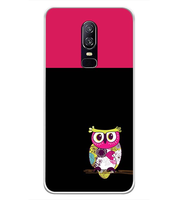 Lovely Owl Soft Silicone Back Cover for OnePlus 6