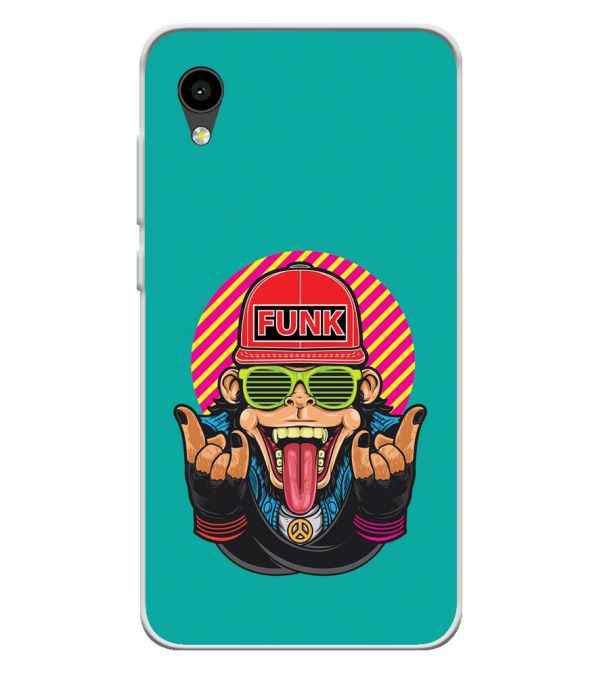 Monkey Funk Soft Silicone Back Cover for Intex Aqua 4G Mini