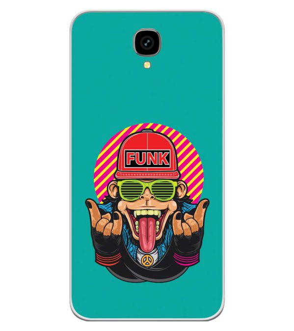 Monkey Funk Soft Silicone Back Cover for Intex Aqua Lions T1 Lite