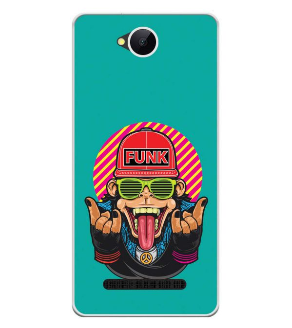Monkey Funk Soft Silicone Back Cover for Karbonn A45 Indian