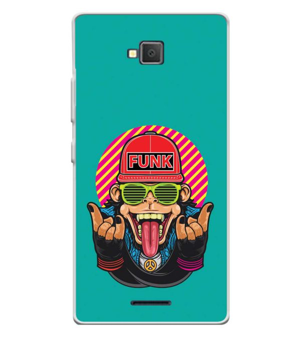 Monkey Funk Soft Silicone Back Cover for Lava A82