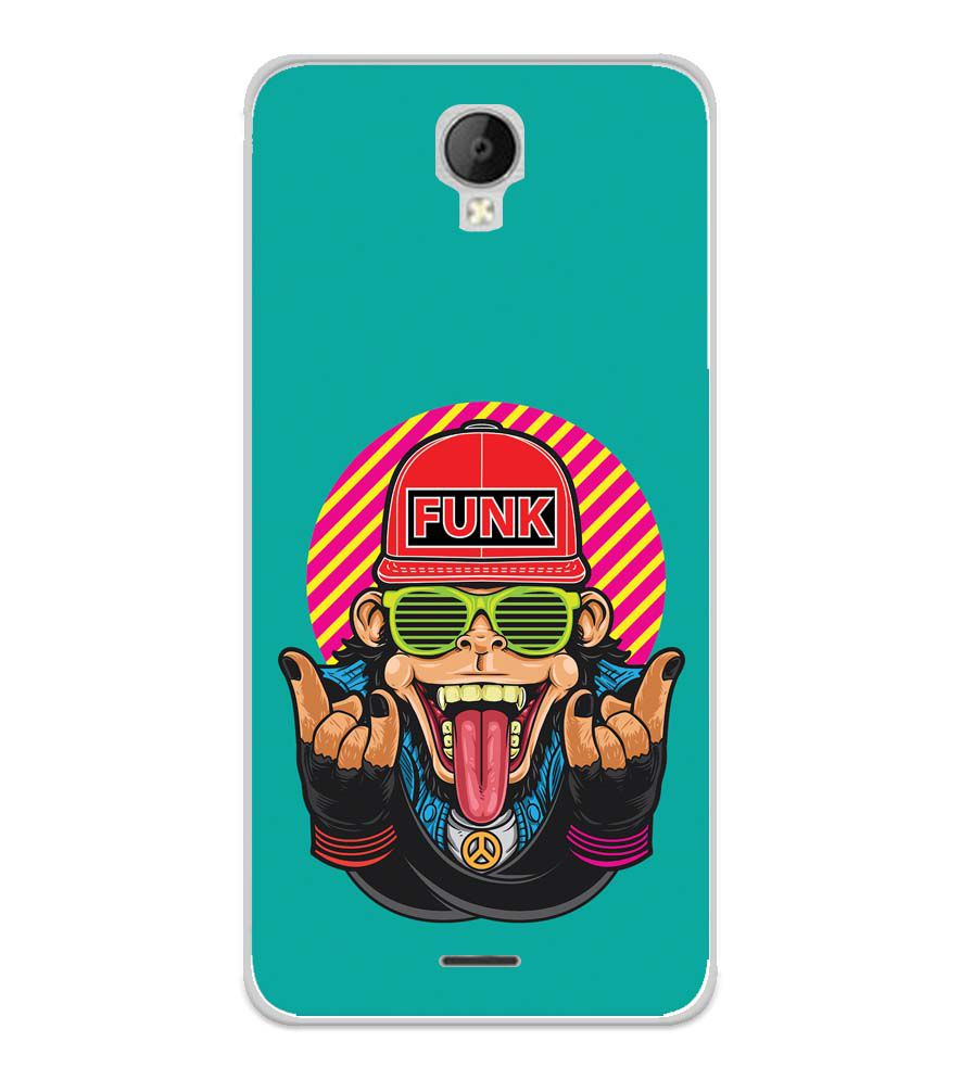Monkey Funk Soft Silicone Back Cover for Micromax Spark Go