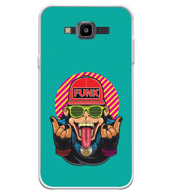 Monkey Funk Soft Silicone Back Cover for Samsung Galaxy J7 Nxt