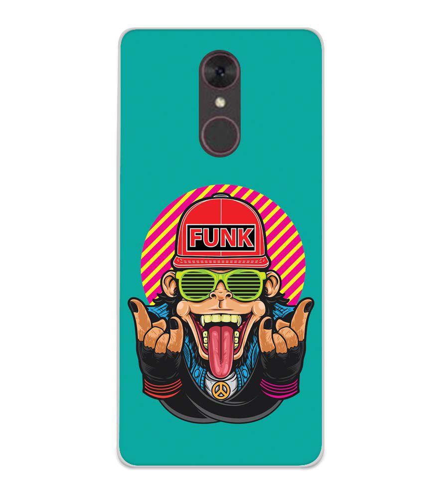 Monkey Funk Soft Silicone Back Cover for Spice F311