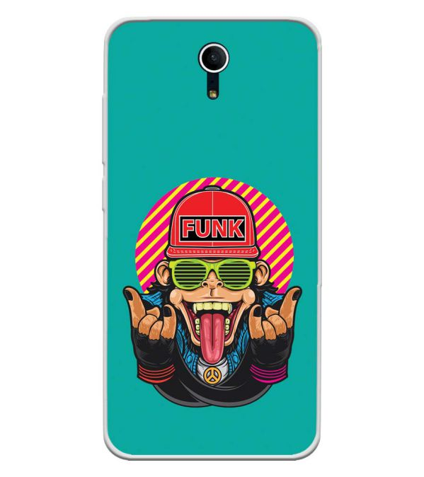 Monkey Funk Soft Silicone Back Cover for Swipe Elite Plus
