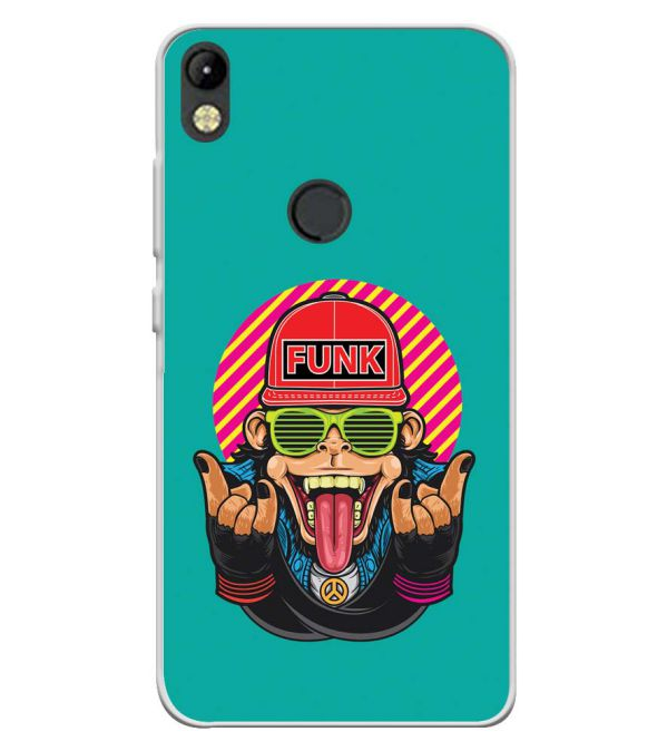 Monkey Funk Soft Silicone Back Cover for Tecno Camon I