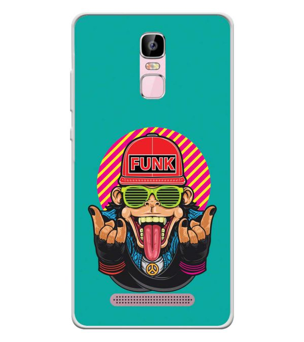 Monkey Funk Soft Silicone Back Cover for Zen Admire Sense Plus