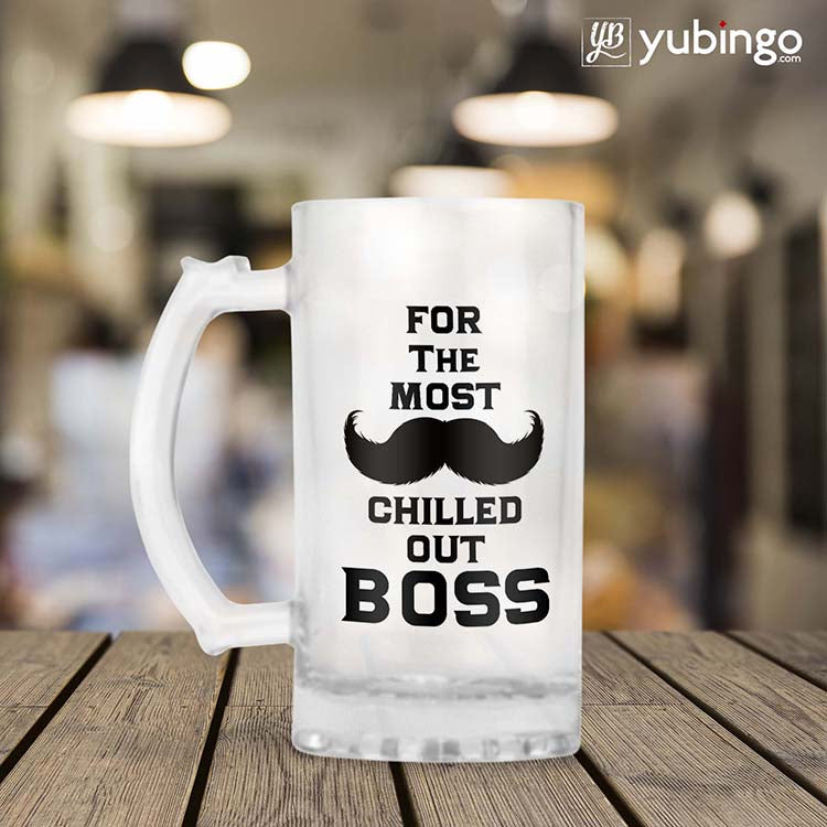 Most Chilled Out Boss Beer Mug