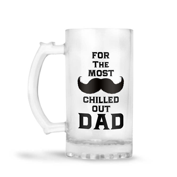 Most Chilled Out Dad Beer Mug
