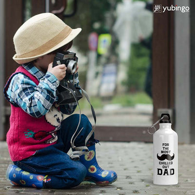 Most Chilled Out Dad Water Bottle-Image4