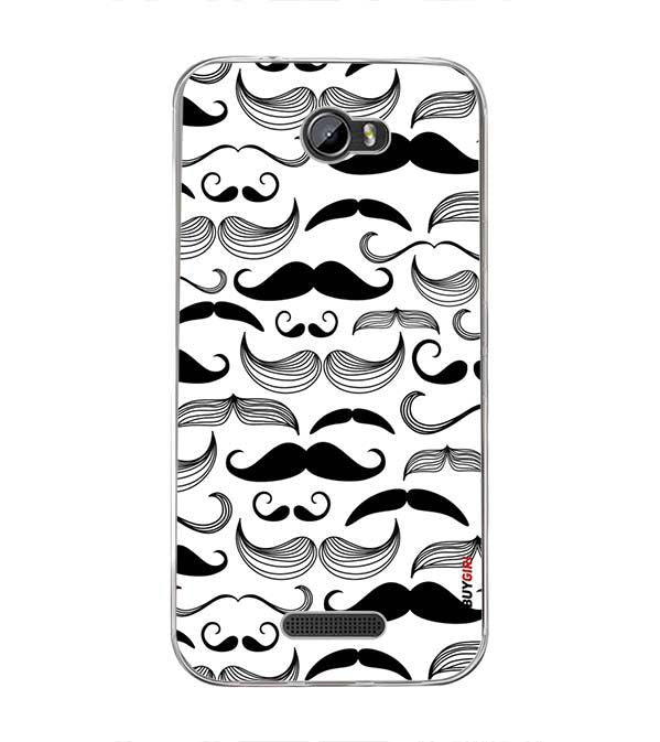 Moustaches Back Cover for Intex Lion 3