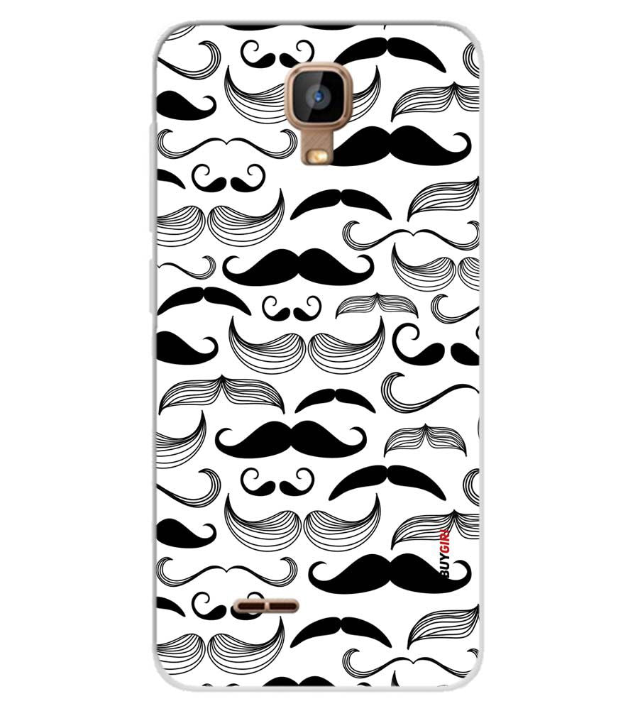 pretty nice 6bc9e 1b2c8 Moustaches Soft Silicone Back Cover for Karbonn A9 Indian