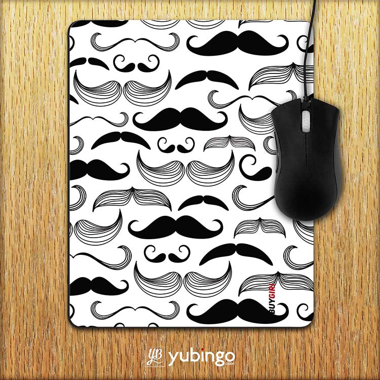 Moustaches Mouse Pad
