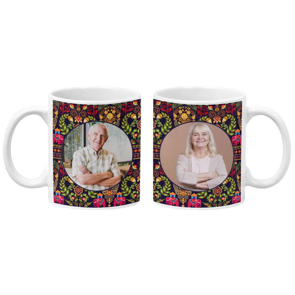 Mughal Pattern Photo Coffee Mug
