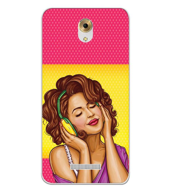 Music Girl Back Cover for Coolpad Mega 5M-Image3