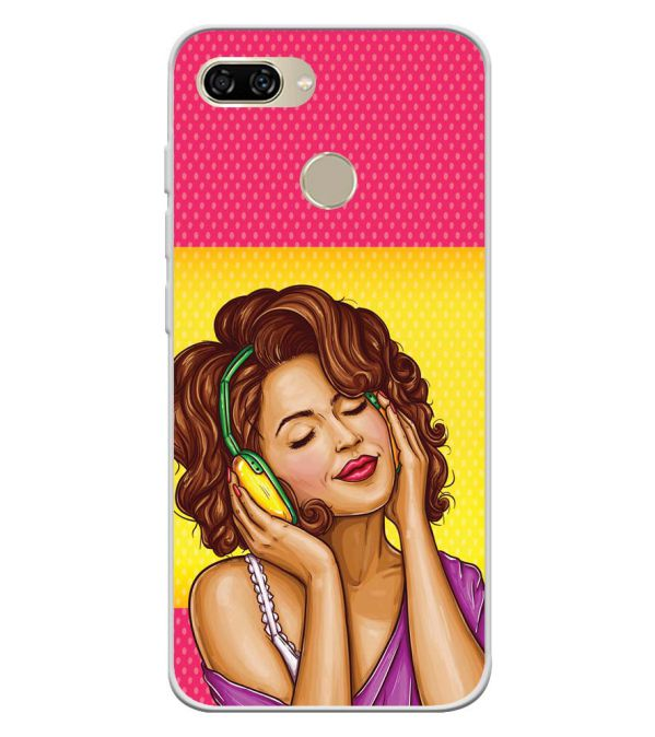 Music Girl Soft Silicone Back Cover for Gionee S11 lite