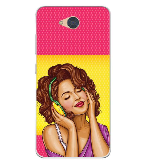Music Girl Soft Silicone Back Cover for Gionee S6Pro