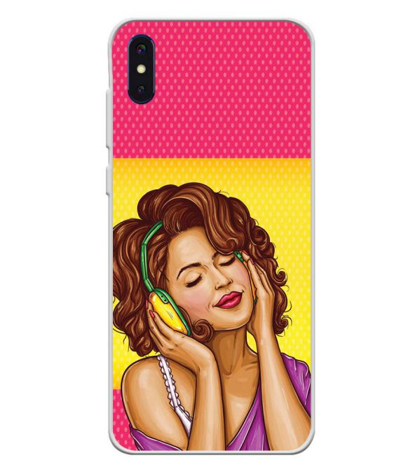 Music Girl Soft Silicone Back Cover for iVoomi i2