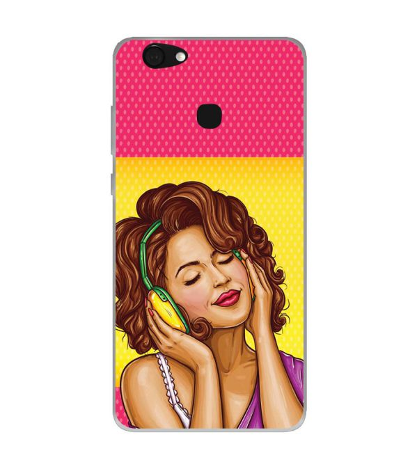 Music Girl Soft Silicone Back Cover for Kult Gladiator