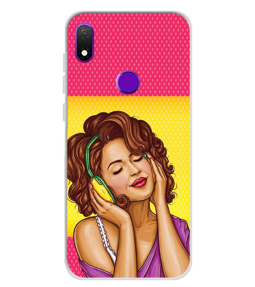 Music Girl Soft Silicone Back Cover for Mobiistar X1 Notch